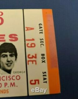 Beatles Final Concert Candlestick Park 1966 Ticket Stub Orange