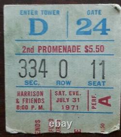 Beatles George Harrison Concert Bangladesh Ticket Stub Bob Dylan Eric Clapton