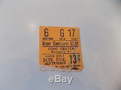 Beatles Original Concert Ticket Stub Sep 13,1964 Baltimore First American Tour