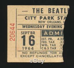 Beatles RARE 1964 NEW ORLEANS, LA CONCERT TICKET STUB