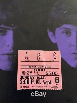 Beatles Rare Orig 64 Concert Ticket Stub Olympia Stadium Detroit MI