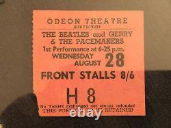 Beatles Ticket Stub August 1963 Southport, England Uk Concert Scarce