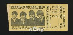Beatles VERY RARE 1966 WASHINGTON DC STADIUM CONCERT TICKET STUB