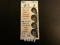 Beatles concert ticket stub John F Kennedy Stadium Aug. 16, 1966