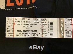 Billy Idol Las Vegas Concert Bundle T-Shirts Ticket Stubs Wristbands Drum Stick