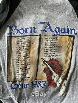 Black Sabbath Concert Shirt & Ticket Stub 1983 Born Again Show