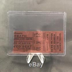 Black Sabbath Hara Arena Dayton Ohio Concert Ticket Stub Vintage July 15 1972