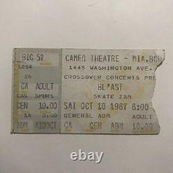 Blast Skate Jam Cameo Theatre Miami Florida Concert Ticket Stub Vintage Oct 1987