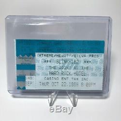 Blink 182 Hard Rock Hotel Concert Ticket Stub Las Vegas Vintage October 22 1998