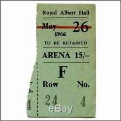 Bob Dylan 1966 Royal Albert Hall London Concert Ticket Stub (UK)