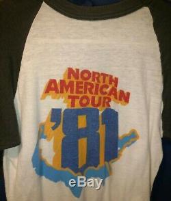 Bob Dylan 1981 Concert T-shirt & Ticket Stub + 1978 Concert Program, Ticket Stub