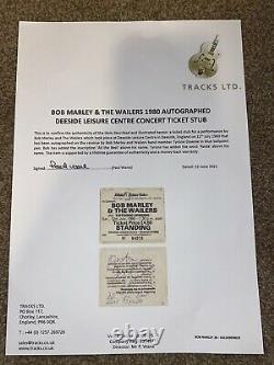 Bob Marley & The Wailers Signed Concert Ticket Stub 1980 Tracks Authenticated