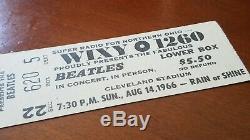 Bratles Original 1966 Cleveland Ohio Concert Ticket Stub White Genuine