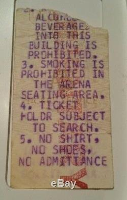 Bruce Springsteen & The E Street Band Concert Ticket Stub 1-26-1981, Notre Dame