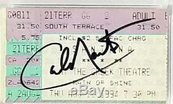 CARLOS SANTANA Signed Autographed 1994 Concert Ticket Stub PSA/DNA SLABBED