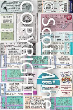 CONCERT TICKET STUBS MURAL modern wall art over 9 feet of pictures
