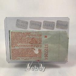 Clash Of The Titans Megadeth Slayer Anthrax Alice Concert Ticket Stub Vtg 1991