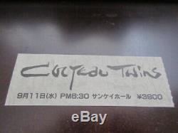 Cocteau Twins 1985 Japan Tour Ticket Stub for Osaka Concert 4AD Shoegazer