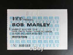 Concert Ticket Stub Bob Marley Pavillon De Paris (france) 1978