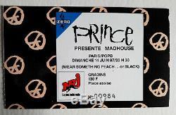 Concert Ticket Stub Prince Paris Bercy(france) 1987