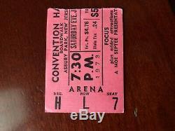 Concert Ticket Stubs, Hendrix, Cream, Grand Funk, Vanilla Fudge and Focus