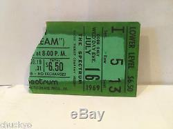Cream Concert Ticket Stub 7-19-1969 Spectrum Philadelphia PA Rare