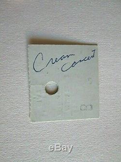 Cream Memorabilia Rare Ticket Stub Anaheim Convention Center Concert 1968