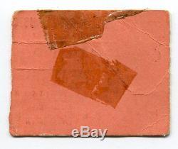 DAVID BOWIE Concert Ticket Stub 2-14-73 Ziggy Stardust New York Valentine's Day