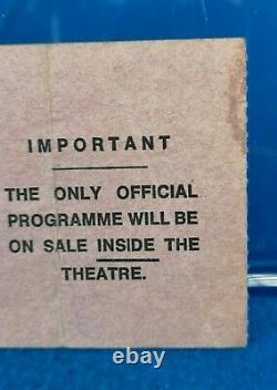 DAVID BOWIE Original 1973 Vintage CONCERT Gig TICKET Stub ODEON Lewisham TOUR