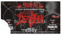 DEATH Tour 1998 Concert Ticket Stub MASSACRE Autopsy cd lp CONTROL DENIED
