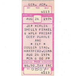 DEEP PURPLE & ELF Concert Ticket Stub HARTFORD 8/26/74 RONNIE JAMES DIO RAINBOW