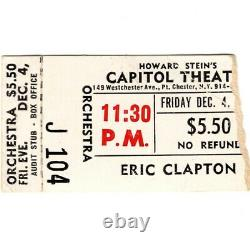 DEREK & THE DOMINOES Concert Ticket Stub PORT CHESTER NY 12/4/70 DUANE ALLMAN
