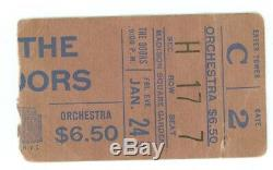 DOORS Madison Square Garden January 24, 1969 Concert Ticket Stub