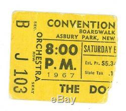 DOORS New Jersey Park Convention Center September 2, 1967 Concert Ticket Stub