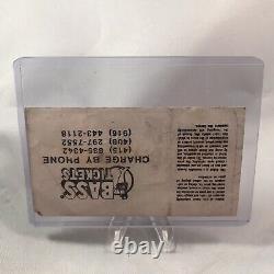 David Bowie Oakland Stadium California Concert Ticket Stub Vtg September 17 1983