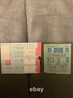 Dec. 15 1977 KISS Concert Tour Partial Ticket Stub Madison Square Garden + Pen Pl