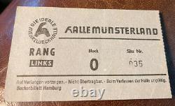 Deep Purple Ashton Gardner Dyke Rare Concert Ticket Stub Germany 12/04/1970