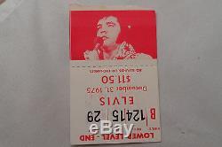 ELVIS 1975 Original Concert ticket STUB New Year Detroit