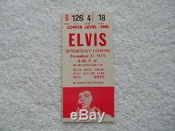ELVIS 1975 Original RED CONCERT TICKET STUB New Years Eve, Detroit EX++