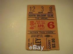 ELVIS PRESLEY April 6,1957 Authentic Original Concert Ticket Stub Philadelphia