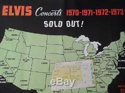 ELVIS PRESLEY Original 1973 CONCERT TICKET STUB Cincinnati EX+