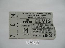 ELVIS PRESLEY Original 1974 CONCERT TICKET STUB Niagara Falls, NY EX