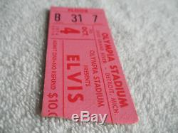 ELVIS PRESLEY Original 1974 CONCERT TICKET STUB Olympia Stadium EX