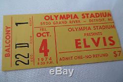 ELVIS PRESLEY Original 1974 CONCERT Ticket STUB, Olympia Stadium, DETROIT
