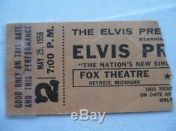 ELVIS original CONCERT TICKET STUB Detroit, MI