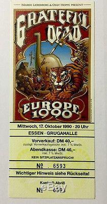 EUROPE 1990 THE GRATEFUL DEAD CONCERT TICKET VINTAGE STUBS