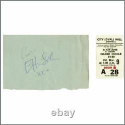 Elton John Autograph And Concert Ticket Stub (UK)