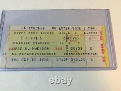 Elvis Chicago IL Oct 14, 1976 Concert Ticket Stub