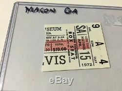 Elvis Concert Ticket Stub April 15, 1972 Macon Georgia