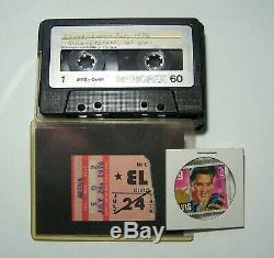 Elvis Concert Ticket Stub & Bootleg Tape- July 24, 1976 Charleston, WV Lot 3
